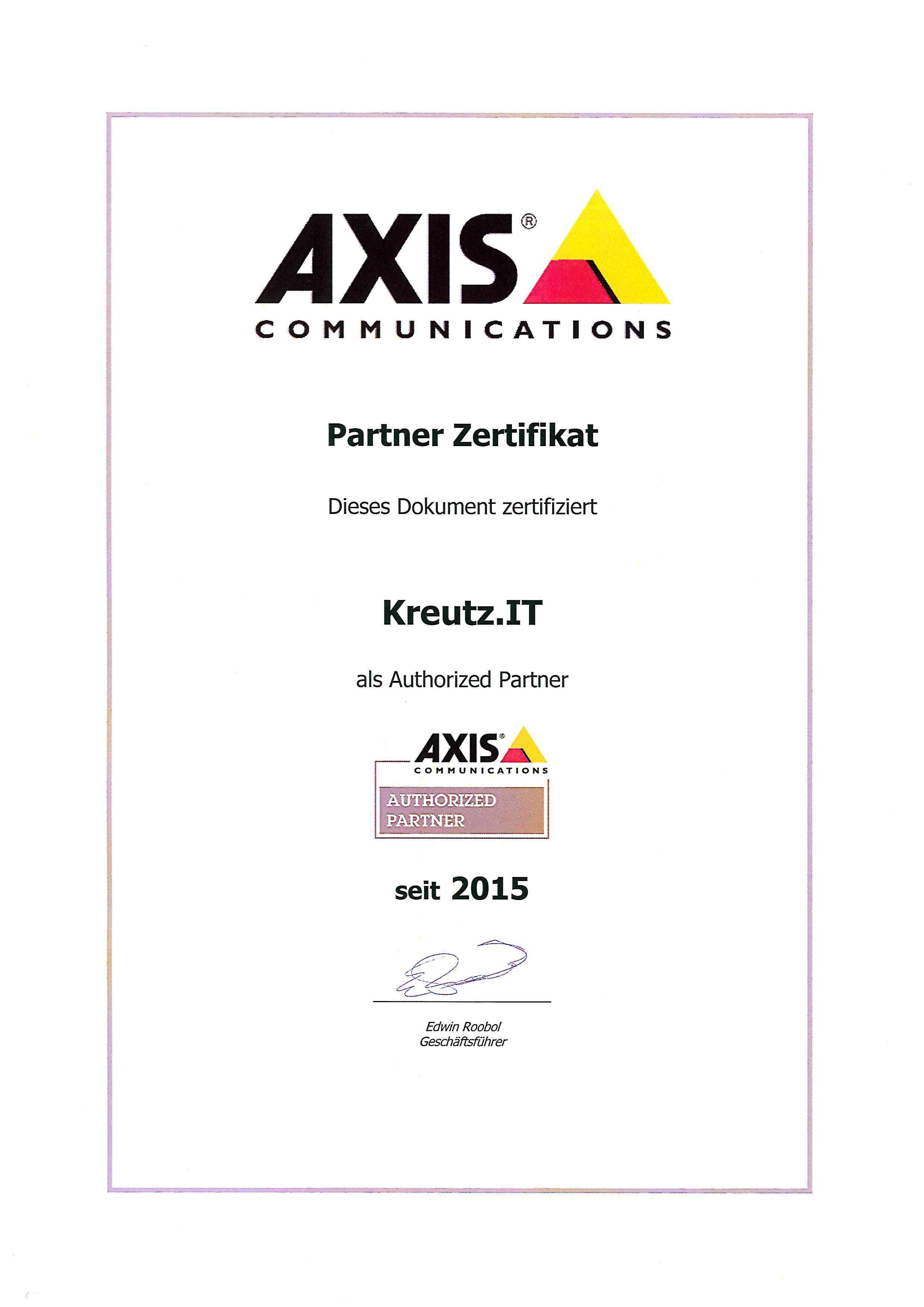Zertifizierungen Kreutz