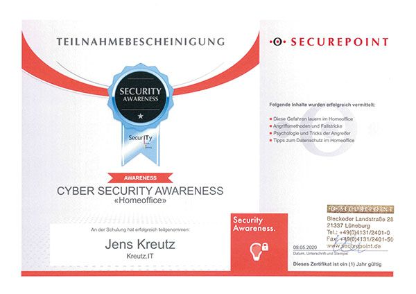 Cyber Security Awareness - Homeoffice (05/2020)