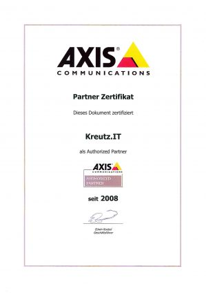 AXIS Authorized Partner (01/2008)