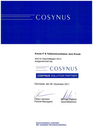Cosynus Solution Partner (12/2011)