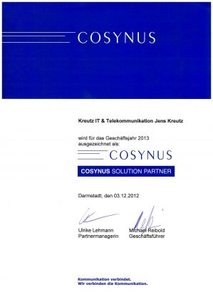 Cosynus Solution Partner (12/2012)