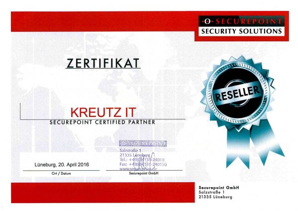 SECUREPOINT CERTIFIED PARTNER (04/2016)