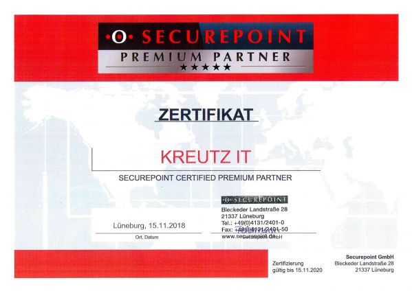 SECUREPOINT CERTIFIED PREMIUM PARTNER (11/2018)